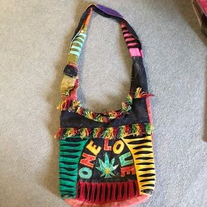 Handbags - 🦋 Hippie purse one love pot leaf